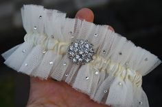 Gorgeous DIY garter- could probably embellish however you like