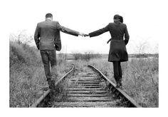 train tracks ~ engagement photos