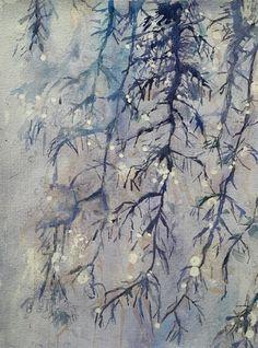 Frozen drops, watercolor, 2017