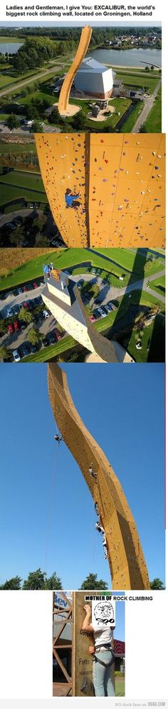 world s biggest rock climbing wall Places To Travel 9e88fb7a465