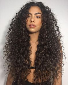 3a Curly Hair, Colored Curly Hair, Haircuts For Curly Hair, Black Curly Hair, Permed Hairstyles, Dark Hair, Curly Hair Styles, Natural Hair Styles, Layers For Curly Hair