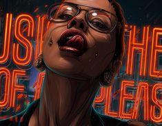 Vee on Behance Digital Art Girl, Digital Portrait, Portrait Art, Illustration Sketches, Illustrations And Posters, Cyberpunk, Evvi Art, Arte Black, Pop Art Drawing