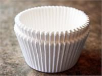 Baking cups for jumbo muffin pans and for jumbo cupcakes are hard to find. These pure white paper liners that will work
