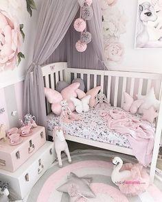 Decorating Toddler Girls Room, Toddler Room Decor, Baby Room Decor, Pink Toddler Rooms, Baby Bedroom, Nursery Room, Girls Bedroom, Little Girl Rooms, Decoration