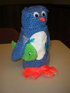 Bubble Wrap Penguin Craft