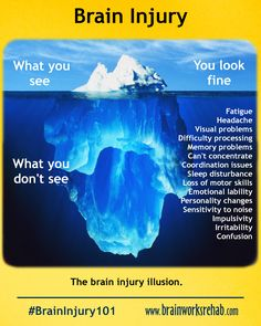 #BrainInjury What you see vs what you don't