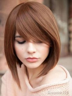 Super new haircuts for season: the TOP 7 of trends for different hair lengths Hairstyles With Bangs, Straight Hairstyles, Medium Hair Styles, Short Hair Styles, Bob Styles, Asymmetrical Bob Haircuts, Stylish Haircuts, Human Hair Wigs, Hair Lengths