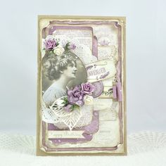 Cathrines hjerte Birthday card made with gorgeous papers from Pion Design.