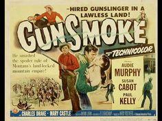 Gunsmoke is a 1953 western film directed by Nathan Juran and starring Audie Murphy alongside Susan Cabot, Paul Kelly, Charles Drake. Gunsmoke is a Technicolo. Western Film, Western Movies, Westerns, Kingston, Montana, Paul Kelly, Good Movies To Watch, Nice Movies, Virginia