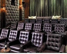 Awesome Home Theatre...Fortress Seating is the best theatre seating available. It sets the stage for the home cinema experience...Me Likes!