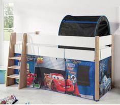 Spielbett Sam mit Vorhang und Rutsche Jetzt bestellen unter: https://moebel.ladendirekt.de/kinderzimmer/betten/hochbetten/?uid=e3dc7511-61e7-5c75-81a5-555fe38bb929&utm_source=pinterest&utm_medium=pin&utm_campaign=boards #kinderzimmer #kleinkindmöbel #hochbetten #betten