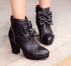 413679f02f89 Sweet bowknot high-heeled boots - Thumbnail 1 Heeled Boots