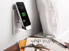 iPhone mini dock - saves desk space & cord tangle!
