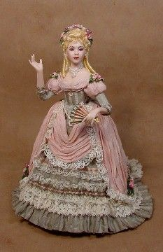 Lady Katherine Miniature Doll by Gina Bellous from a Stacy Hofman Mold