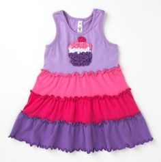 cupcake ruffle dress @lisanally. I think this would look great on B, lol
