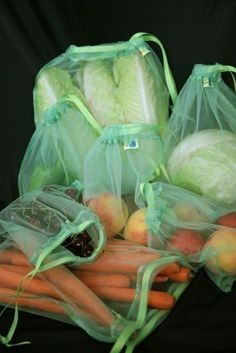 4 Pack Lime Reusable produce bags Eco friendly by LoveForEarth, $10.50