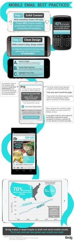 Mobile Email Best Practices   #infographic #EmailMarketing #Marketing