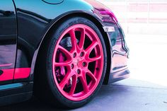 Porsche Wheels Pink ☆ Girly Cars for Female Drivers! Love Pink Cars ♥ It's the dream car for every girl ALL THINGS PINK!