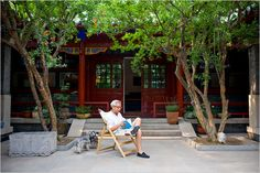 """Liu Heung Shing, a Pulitzer Prize-winning photojournalist, owns a siheyuan off a hutong just north of the Forbidden City. """"Chinese believe that in a siheyuan you can feel the spirit of the earth."""""""