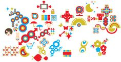Colorful Different Shapes Free Vector