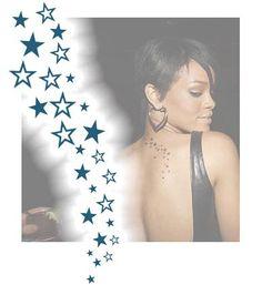 Rihanna - Etoiles | TattooForAWeek.com - Tatouages Temporaires . - tatouage temporaire - Rihanna - FE/F3-14