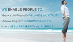 We enable people to...