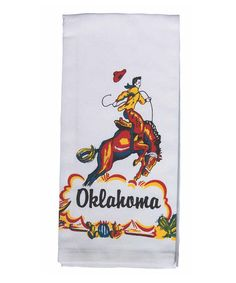 'Oklahoma' Cowboy Kitchen Towel - Set of Two #zulily #zulilyfinds