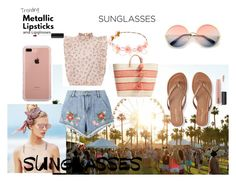 """""""#retrosunglasses"""" by selma-masic1 ❤ liked on Polyvore featuring ZeroUV, Beach Riot, House of Holland, Mar y Sol, Aéropostale, Belkin and MAC Cosmetics"""