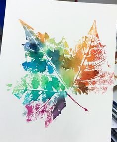 This week my and grade students kicked off the first week of Fall by making leaf prints! These leaves came off a sycamore tree and. Fall Art Projects, Art Projects For Adults, Toddler Art Projects, Leaf Projects, Fall Crafts For Kids, Art For Kids, Impressions Botaniques, 4th Grade Art, Leaf Crafts