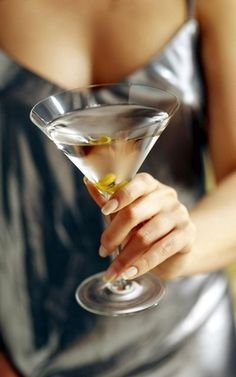 Martini with one olive