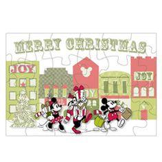 FREE Disney Christmas Printable - Mickey's Jolly Jigsaw Puzzle