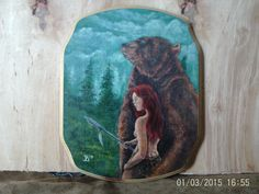 Bear Goddess painting by Seamtreeshop on Etsy