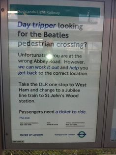 You've got to love Transport For London - Imgur