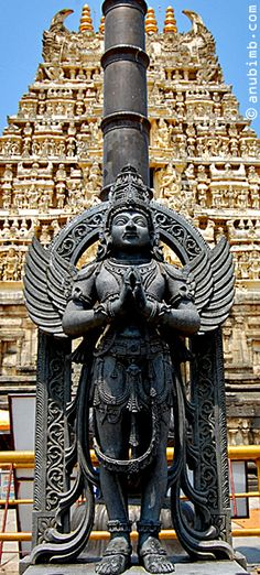 The Garuda statue is at the entrance of Chennakesava temple, Belur. This Garuda statue has been done by Javaracharya Mysore. #bali