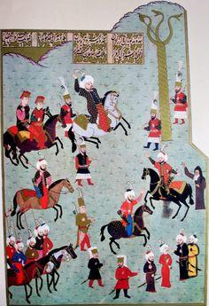 Fatih Sultan Mehmed Han ve yılanlı sütun, Hünername Islamic Paintings, Exotic Art, Turkish Art, Art Themes, Ottoman Empire, Modern Warfare, Central Asia, Illuminated Manuscript, Islamic Art