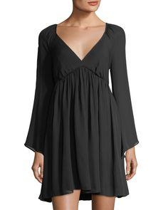 2d7230aa9e5 Catherine Malandrino Linnea Long-Sleeve Silk Dress