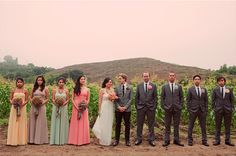 different colored bridesmaids' dresses « Spearmint Wedding @Ilse Gutierrez
