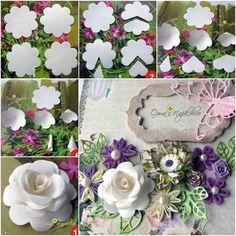 Flores de papel / moldes