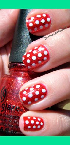 Minnie Mouse Nails | Summer A.'s (summerella31) Photo | Beautylish