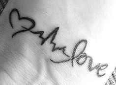 """Wrist tat. """"My <3 cannot live (vital signs) without love"""". ...reference from 1 cor. 13:2 """"...but not have love, i am nothing""""."""