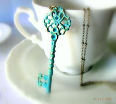 Hey, I found this really awesome Etsy listing at https://www.etsy.com/listing/128485840/vintage-key-necklace-antique-key