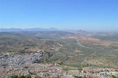 Vue sur Archidona depuis la Sierra de Gracia, Malaga - Andalousie (Espagne)