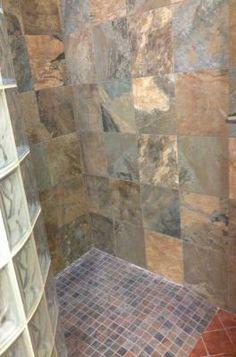american olean 15 pack kendal slate carlisle black glazed porcelain floor tile common - Bathroom Tiles Kendal
