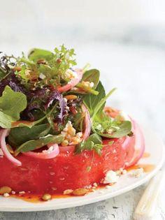 "Watermelon ""Steak"" Salad"