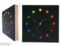 Habitat Wanduhr flap black large analogue year wall clock wall clocks clocks and