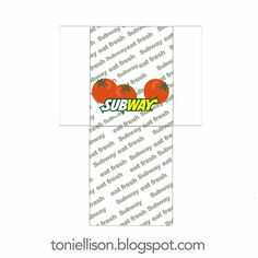 Toni Ellison: Subway Sandwiches : How To Make Miniature Subway Sandwiches with Polymer Clay