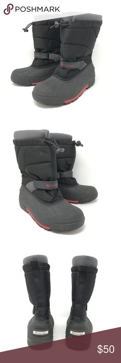 Columbia Frost Flight Snow Boots boys youth Sz 5 Columbia Frost Flight Snow Boots Boys Youth Size 5 Black & Red Winter Insulated   Size: 5 Youth Color: Black & Red Style Name/Number: Frost Flight  In excellent preowned condition with no known flaws and minimal wear. Columbia Shoes Rain & Snow Boots