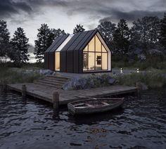 IMAGINE - Загородный дом. Интеграция в реальный ландшафт | PINWIN - конкурсы для архитекторов, дизайнеров, декораторов