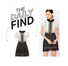 """The Daily Find: Self Portrait Lace Dress"" by polyvore-editorial ❤ liked on Polyvore featuring self-portrait, women's clothing, women's fashion, women, female, woman, misses, juniors and DailyFind"