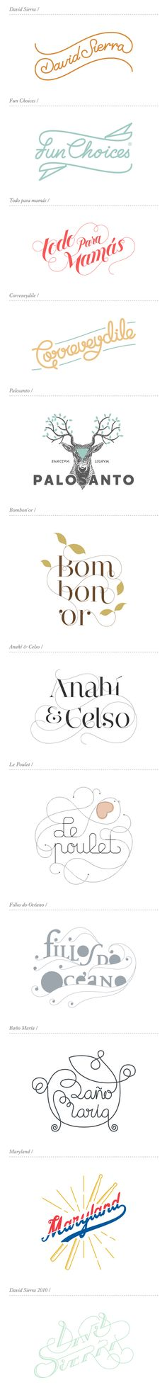 Logos by David Sierra, via Behance